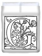 Decorative Initial G Duvet Cover
