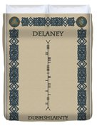Delaney Written In Ogham Duvet Cover
