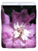 Delphinium Named Magic Fountains Lilac Pink Duvet Cover