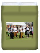 Dende Nation Samba Drum Troupe Duvet Cover