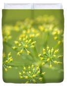 Yellow Dill Flower Duvet Cover