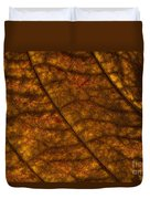 Dogwood Leaf Backlit Duvet Cover