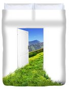 Door To New World Duvet Cover