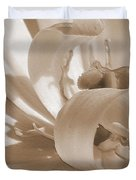 Double Late Tulip Named Angelique Duvet Cover