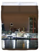 Downtown Baltimore Duvet Cover