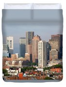 Downtown Boston Skyline Duvet Cover
