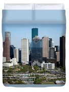 Downtown Houston Skyline Duvet Cover