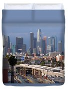 Downtown Los Angeles Skyline Duvet Cover