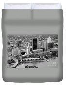 Downtown Skyline Of Toledo Ohio Duvet Cover