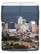Downtown Skyline Of Wilmington Duvet Cover