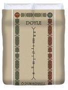 Doyle Written In Ogham Duvet Cover