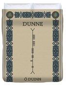 Dunne Written In Ogham Duvet Cover