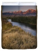 Eastern Sierras And Owens River Duvet Cover