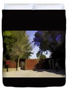 Entrance Gate Of Humayuns Tomb In Delhi  Duvet Cover