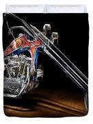 Evel Knievel Harley-davidson Chopper Duvet Cover