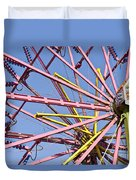 Evergreen State Fair Ferris Wheel Duvet Cover