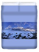 Exploration Of Ice Caves And Moulins Duvet Cover