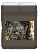 Face Of Buddha Duvet Cover