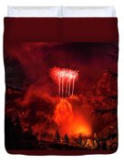 Fireworks Above Toce Falls, Formazza Duvet Cover