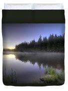 First Light At Trillium Lake With Reflection Duvet Cover