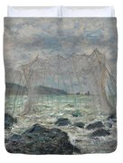 Fishing Nets At Pourville Duvet Cover