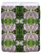 Flowers From Cherryhill Nj America Silken Sparkle Purple Tone Graphically Enhanced Innovative Patter Duvet Cover