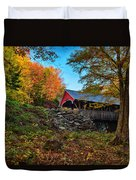 Flume Gorge Covered Bridge Duvet Cover