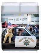 Ford Diplomat Police Car Duvet Cover