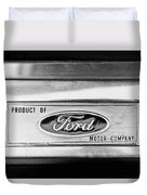 Powered By Ford Emblem -0307bw Duvet Cover