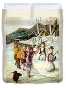 Frosty Frolic Duvet Cover