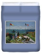 Garden At Sainte-adresse Duvet Cover