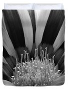 Gazania Named Big Kiss White Flame Duvet Cover