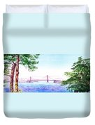 Golden Gate Bridge San Francisco Duvet Cover by Irina Sztukowski