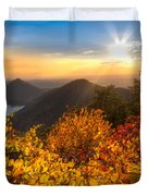 Golden Hour Duvet Cover by Debra and Dave Vanderlaan