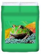 Green Fantasy Frogpacman Frog Duvet Cover