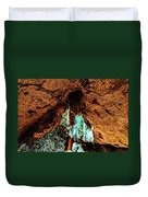 Green Grotto Caves Duvet Cover