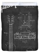 Hart Gibson Electrical Musical Instrument Patent Drawing From 19 Duvet Cover