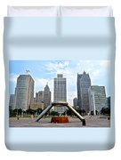 Hart Plaza Detroit Duvet Cover
