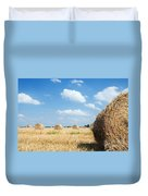 Haystacks In The Field Duvet Cover