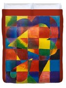 3 Hearts Squared Duvet Cover