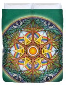 Heaven And Earth Mandala Duvet Cover