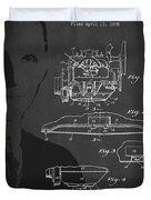 Henry Ford Engine Patent Drawing From 1928 Duvet Cover