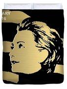Hillary Clinton Gold Series Duvet Cover