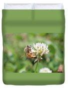 Honeybee On Clover Duvet Cover