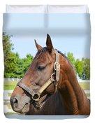 Horse On A Farm  Duvet Cover