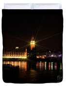 Houses Of Parliament And Big Ben Duvet Cover