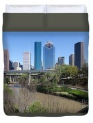 Houston Skyline Duvet Cover