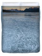 Ice On Abraham Lake Duvet Cover