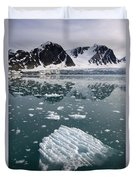Icebergs Near The Monaco Glacier Duvet Cover