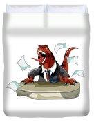 Illustration Of A Tyrannosaurus Rex Duvet Cover by Stocktrek Images
